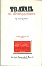 Travail et Développemnt: Revue N 1