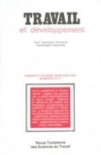 Travail et Développement: Revue N 3 et 4
