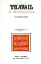 Travail et Développement: Revue N 7